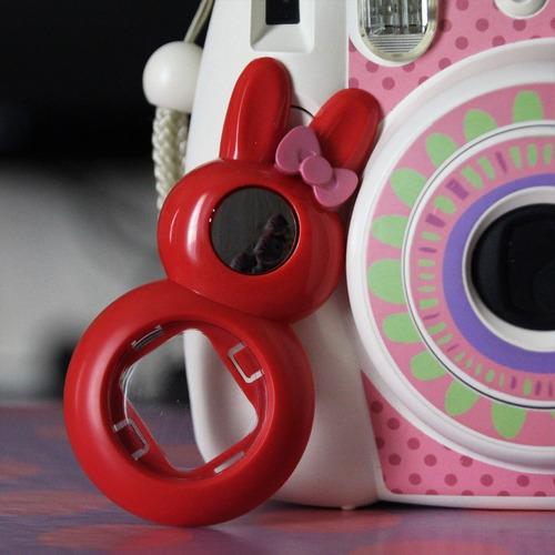 lente close-up coelhinho vermelho p/instax mini 8/9