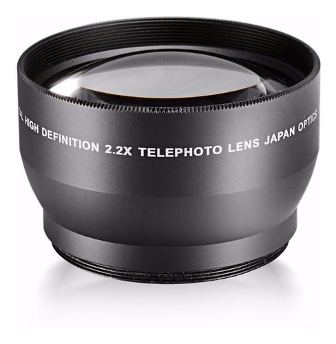 lente câmera nikon canon sony 52 mm 2.2x hd teleobjetiva