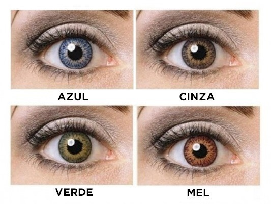 Lente Contato Colorida Anual Varias Cores Mais Estojo - R  74,99 em ... 0476fd343b