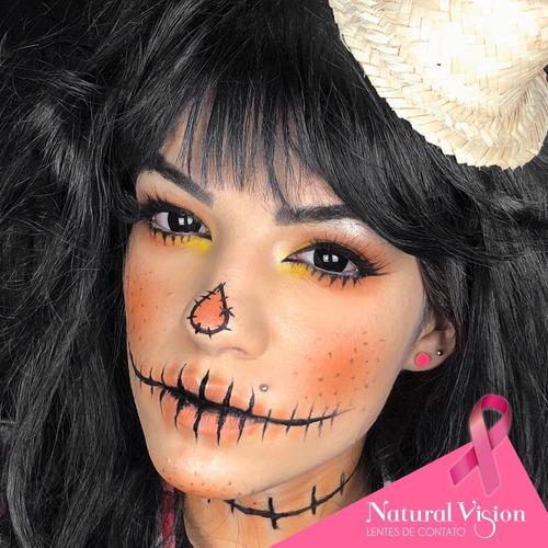 lente contato colorida  fantasy halloween + estojo