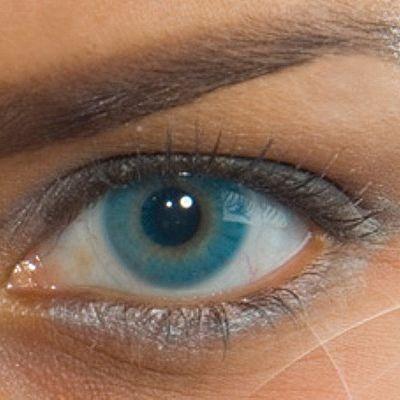 lente contato colorida sem