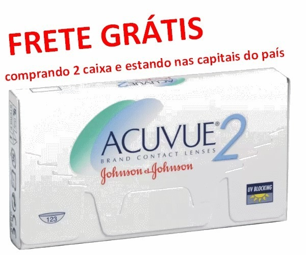 f45dfde934 Lente De Contato Grau Miopia Hipermetropia Acuvue 2 Johnson - R$ 99 ...