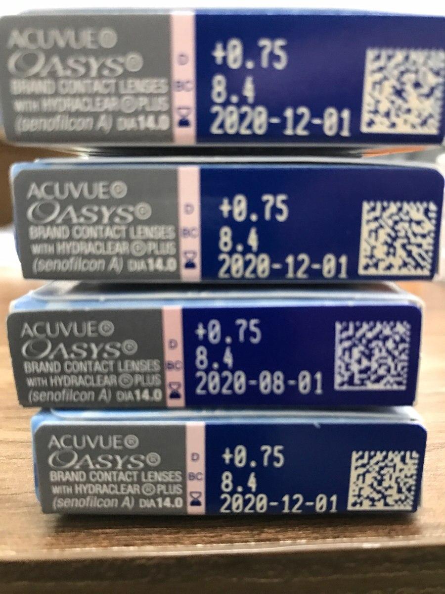 1cfe4bf1b77e9 Lente De Contato Acuvue Oasys +0.75 - R  121,33 em Mercado Livre