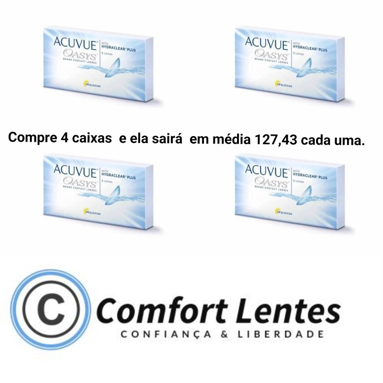 Lente De Contato Acuvue Oasys Hydraclear Plus - R  509,70 em Mercado Livre 2f045ecb60