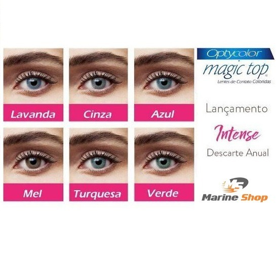 360f1de243546 Lente De Contato Anual Magic Top Intense Borda Suave Natural - R ...