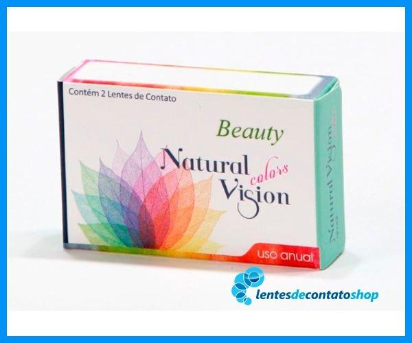 d4fcf1e2b4d82 Lente De Contato C  Grau Natural Vision Anual Beauty Pérola - R  159 ...
