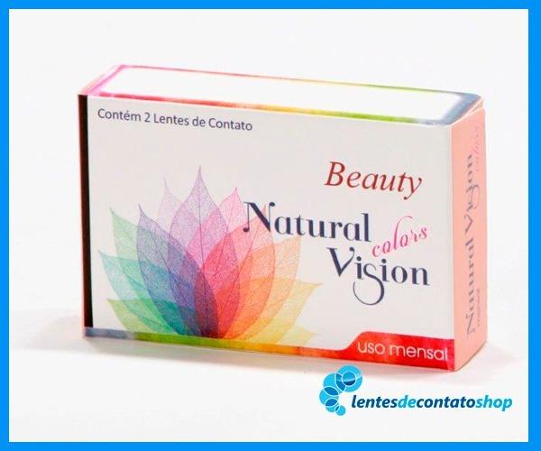 cfcba666f838e Lente De Contato C  Grau Natural Vision Mensal Beauty Pérola - R  99 ...