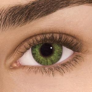 Lente De Contato Color Aurora Green Verde Sem Grau R