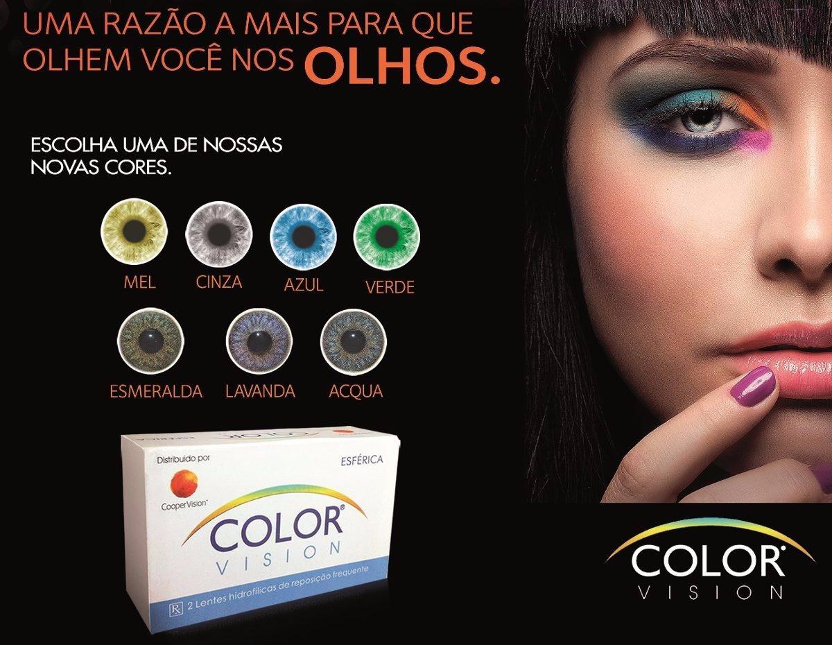 cff23ca25b7d0 Lente De Contato Color Vision - Azul, Mel, Verde, Cinza Etc - R  39 ...