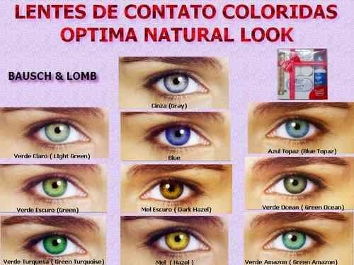 4fe533dd2cb06 Lente De Contato Colorida Anual Natural Look - Bausch   Lomb - R ...