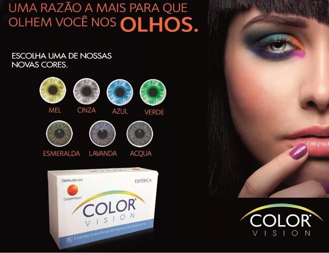0038e20599015 lente de contato colorida color vision com borda   sem grau. Carregando  zoom.