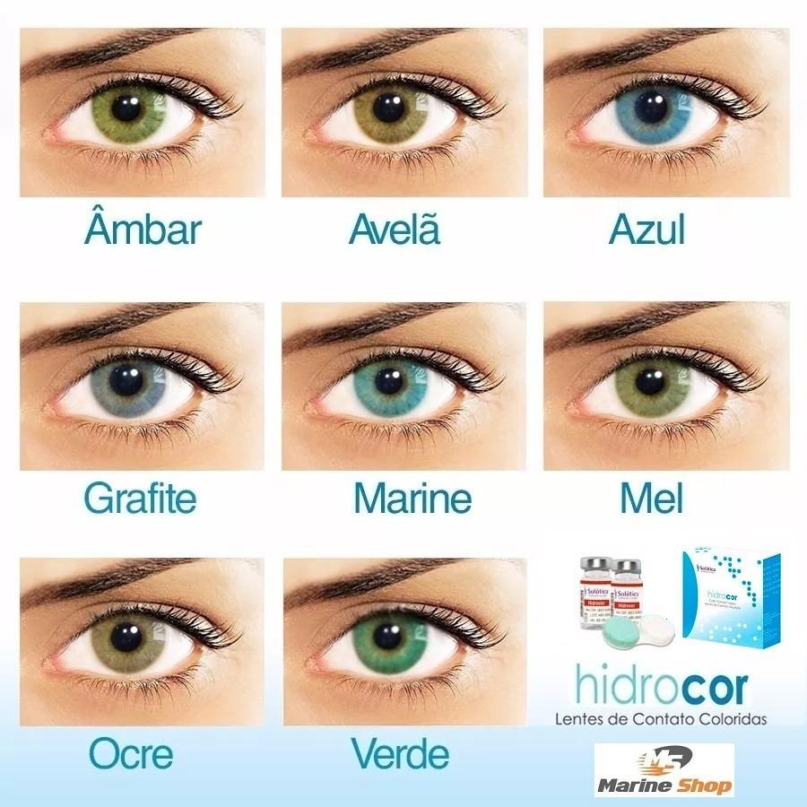 218a53a00 lente de contato colorida hidrocor anual + necessaire brinde. Carregando  zoom.