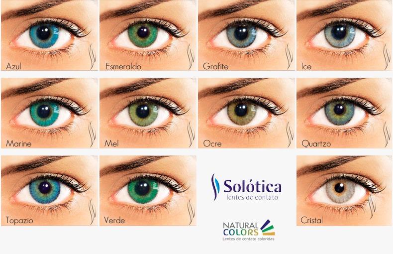 ff65fb5ccb7d1 Lente De Contato Colorida Natural Colors - Anual - Solótica - R  149,99 em  Mercado Livre
