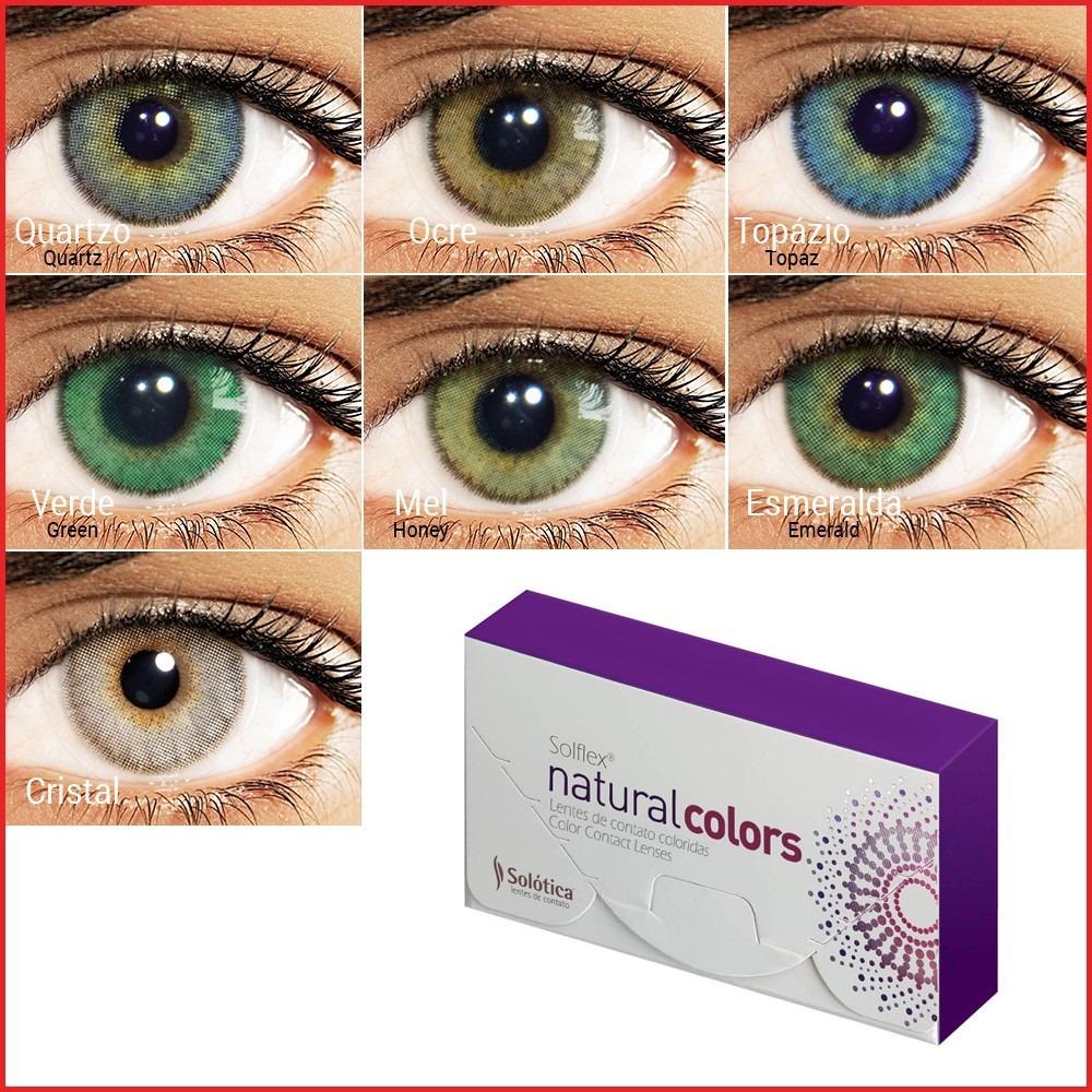c39d1139efb1f lente de contato colorida solflex natural colors com grau. Carregando zoom.