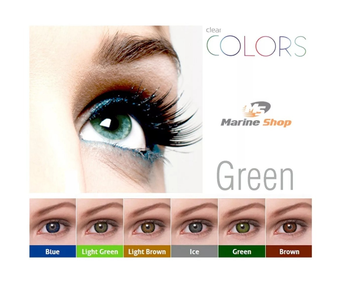 c9d02a14d lente de contato colorida verde / clear colors + estojo. Carregando zoom.