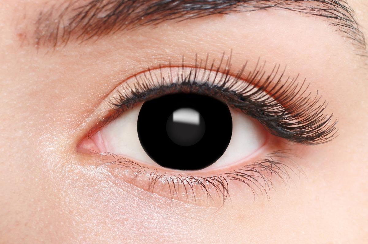lente de contato preta - colors fashion clear - halloween. Carregando zoom. 133d1c650a