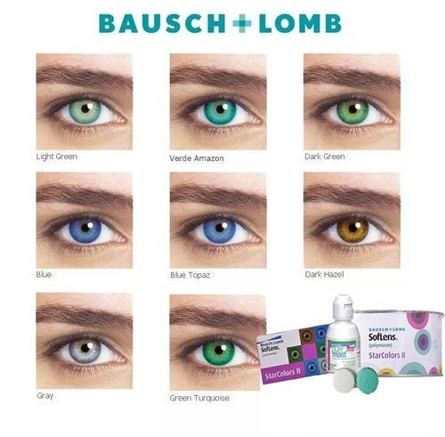 lente de contato star colors bausch lomb + espelho