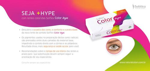 lente de contato vermelha solflex hype solótica / halloween