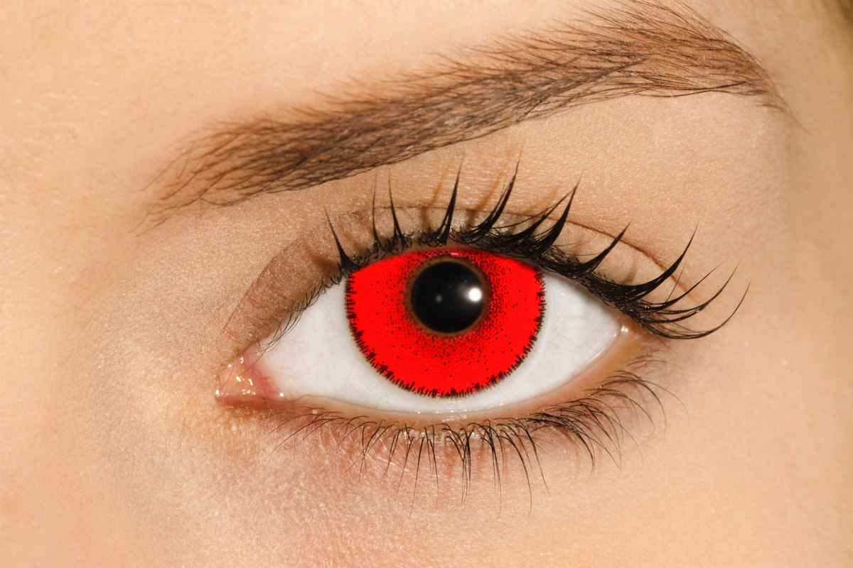 f20d712c4ab14 Lente De Contato Vermelha Solflex Hype Solótica   Halloween - R  92 ...