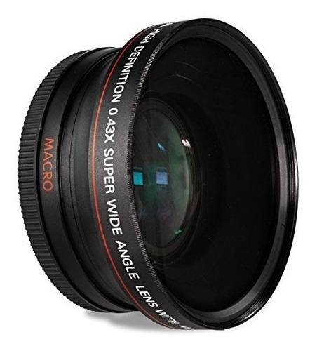 lente de conversión gran angular de 52 mm 0.43x con macro pa