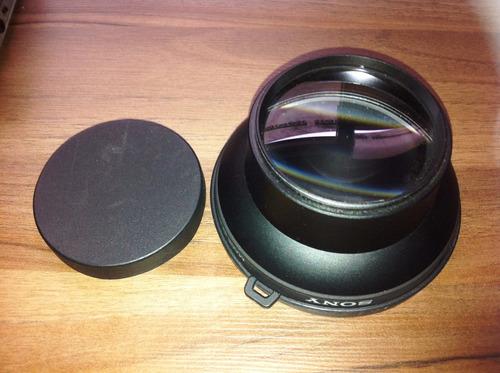 lente de conversão grande ocular sony, modelo vcl-0752h 52mm