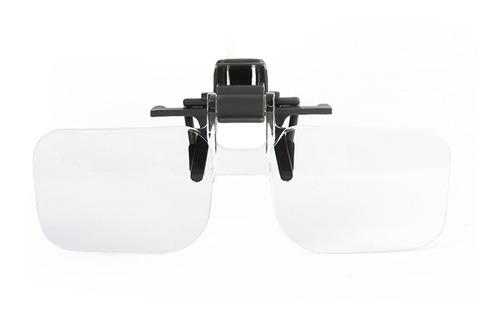 lente de lupa para gafas de sujeción, ideal para leer, manu