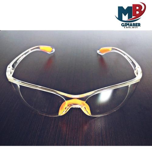 lente de seguridad claro con soporte nasal de goma