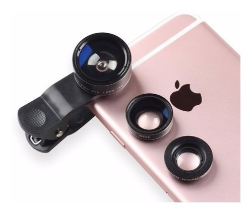 lente e1 3 em 1 = 10x de macro + fish eye + ângulo amplo