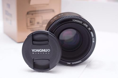 lente ef 50mm f1.8 yongnuo para canon - pronta entrega