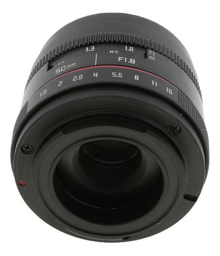 lente fija principal de abertura grande de 50mm f1.8 para