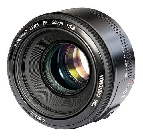 lente fijo 50mm yongnuo canon yn50mm f/1.8 t5i t6i t7i gtia