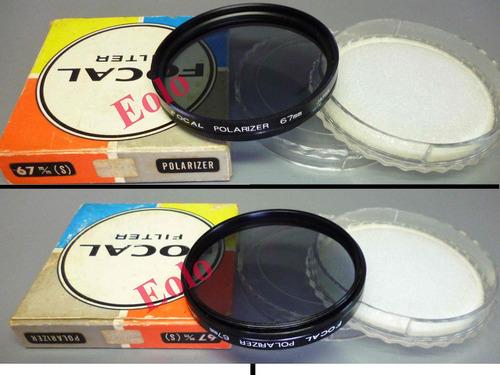 lente filtro polarizador 67mm. diametro