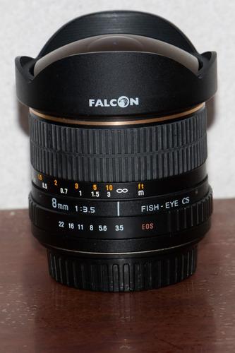 lente fisheye 8mm 3.5 falcon/samyang/polar/bowens/vivitar.