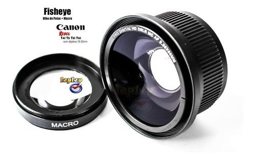 lente fisheye olho de peixe 58mm canon sl2 sl1 t6i t6 t5i t5