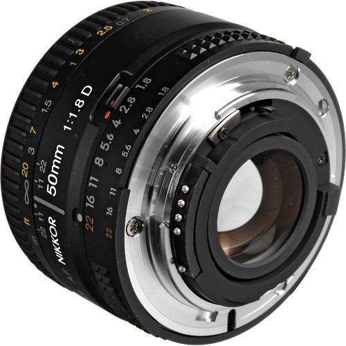 lente full frame nikon af nikkor 50mm f1.8 -d