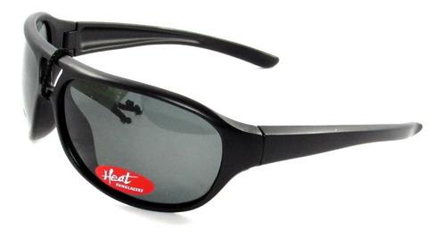 lente gafa anteojo heat sol 10040 neg. brillo polarizado