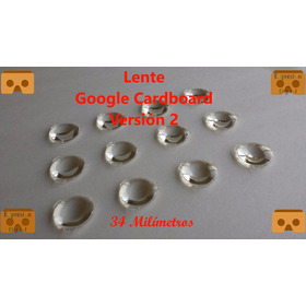 Lente Google Cardboard V2 - 1 Par,d34mm*f39.3mm