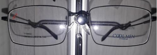 lente graduado armazón titanio, somos óptica