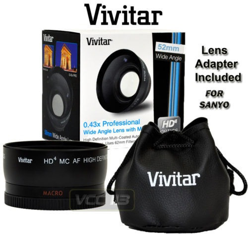 lente gran angular 0.43x para sanyo xacti vcp-l04swu vcp-fh1