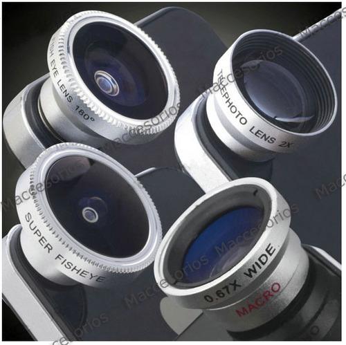 lente gran  angular + macro para todos los celulares