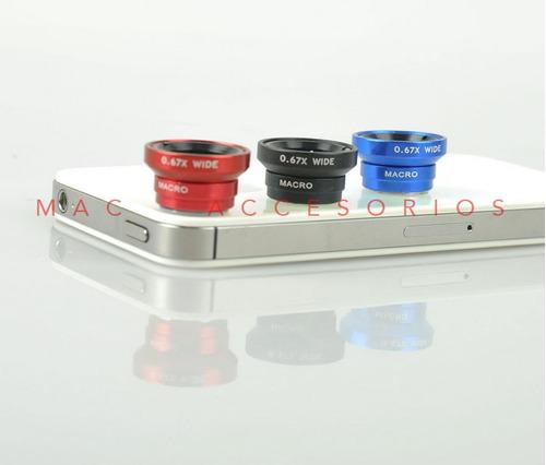 lente gran angular + macro universal todos los celulares