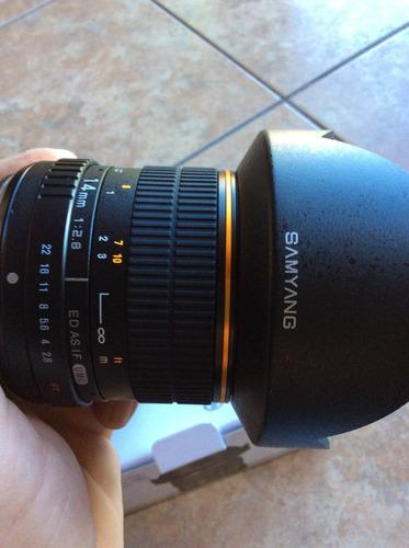 lente gran angular samyang 2.8/14mm