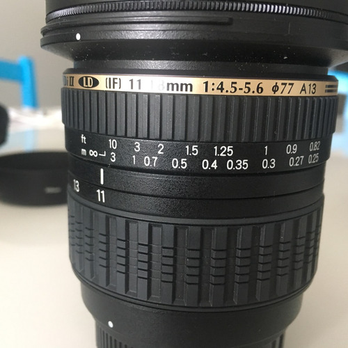 lente gran angular tamron sp af aspherical di ii (if) 11-18