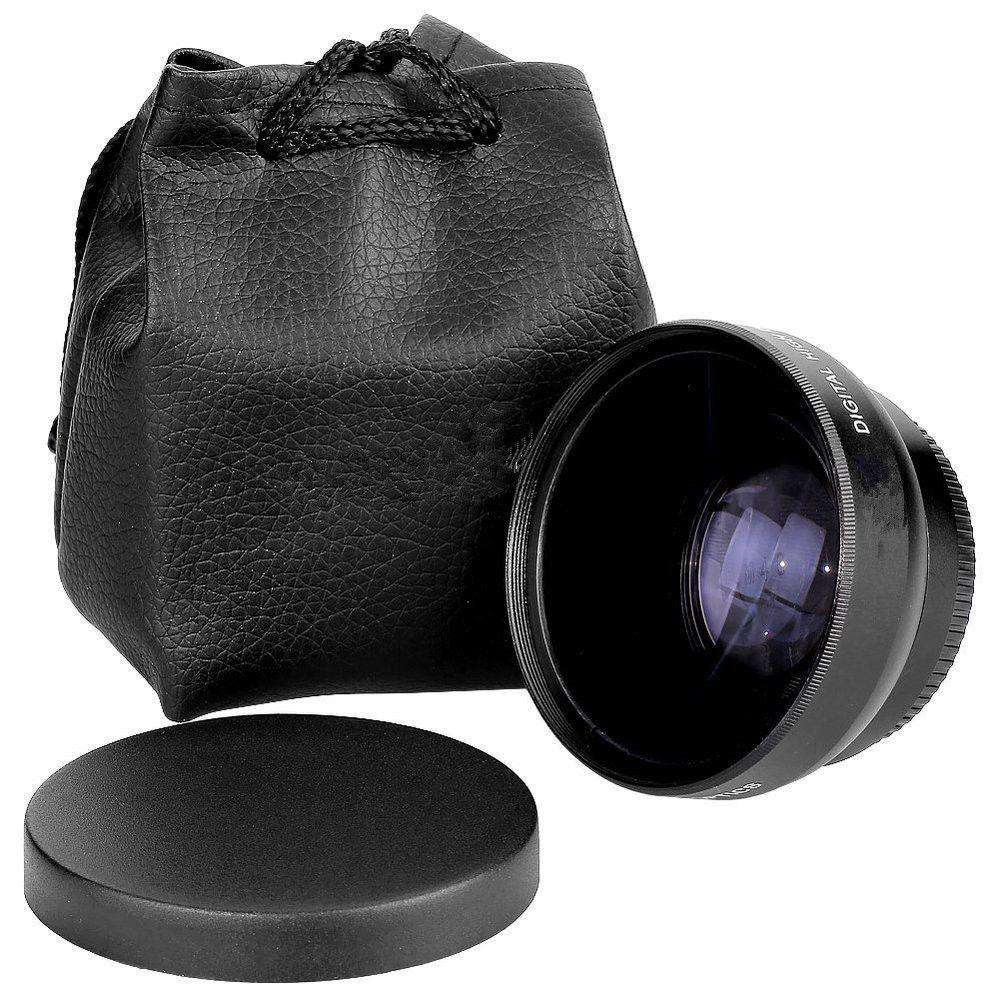 0b0ec2f94784a Lente Grande Angular Wide 0.45x 52mm + Macro Nikon 18-55mm - R  135 ...
