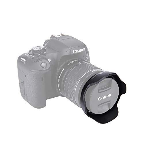 JJC LH-60C Parasol Bayoneta Canon EF-S 18-55mm f//3.5-5.6 EW-60C