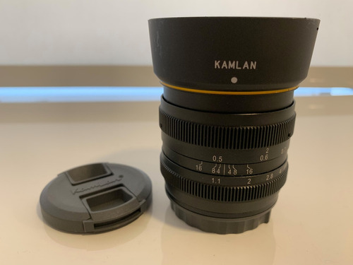 lente kamlan 50mm f1.1 50mmf1.1 para mirrorless sony