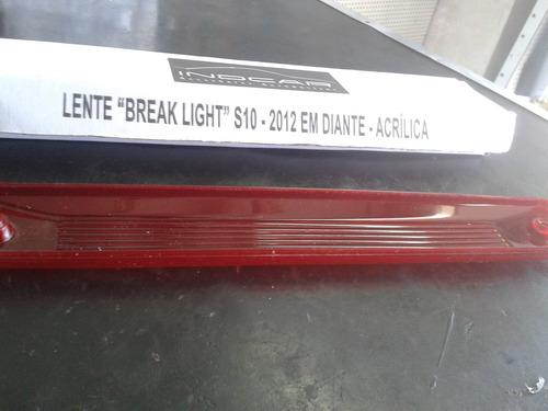 lente lanterna teto luz freio brake light nova s10 2012/....