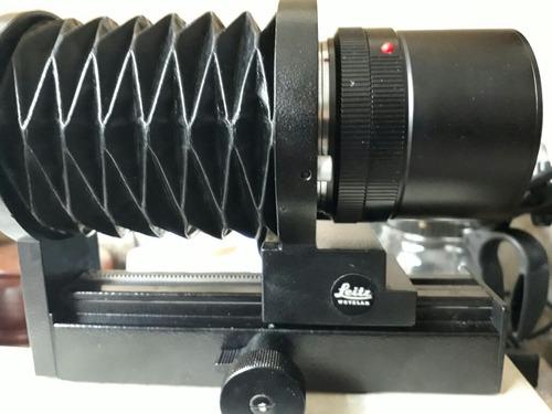lente leica macro elmar 100 f/4 + fole extensor zerados!