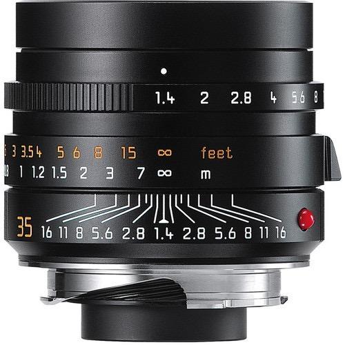 lente leica summilux-m 35mm f/1.4 asph. lens (black)