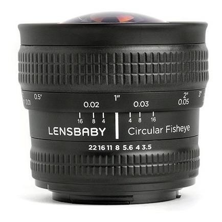 lente lensbaby 5.8mm f/3.5 circular fisheye p/ nikon nuevo